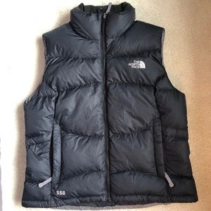 The North Face large women's down puffer vest